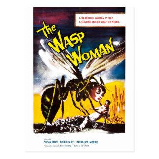 """""""Die Wespe-Frauen-"""" Postkarte"""