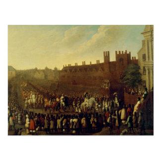 Die Wiederherstellung von Charles II bei Whitehall Postkarte