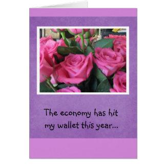 Die Wirtschaft hat geschlagen meine Geldbörse… Karte