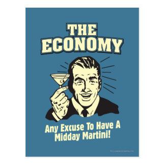 Die Wirtschaft: Mittag Martini Postkarte