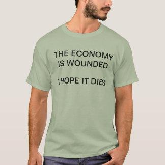 Die Wirtschaft wird - i-Hoffnung verwundet, die T-Shirt