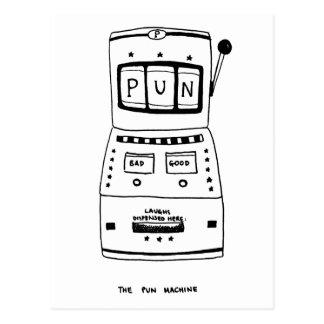 Die Wortspiel-Maschine Postkarte