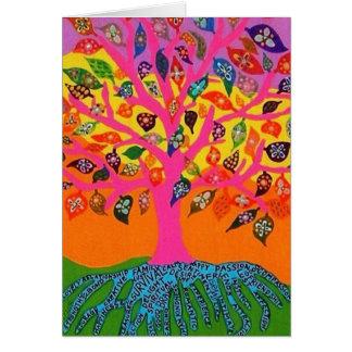 Die Wurzel des Wissens-Baums des Lebens - Karte