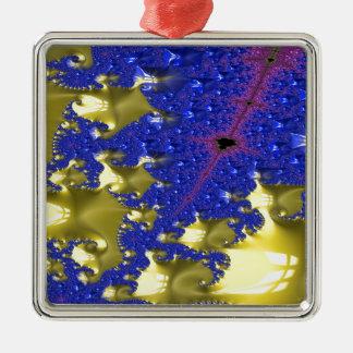 Dieb-und Spions-Fraktal Silbernes Ornament