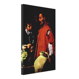 Diego Velazquez - der Wasserverkäufer von Sevilla Galerie Falt Leinwand
