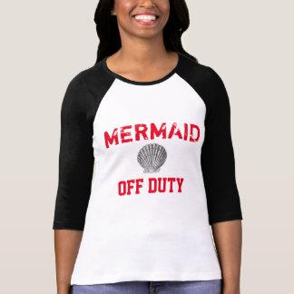 Dienstfreies Meerjungfrau-Baseball-T-Stück T-Shirt