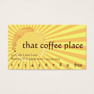 Diese Kaffee-Platz-Getränk-Lochkarte Visitenkarten