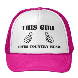 Diese Mädchen-Liebe-Countrymusik Retrokultmütze