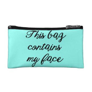 """""""Diese Tasche enthält mein Gesichts-"""""""
