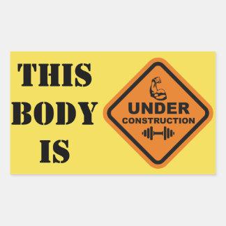 Dieser Körper ist im Bau Rechteckiger Aufkleber