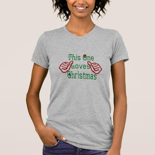 dieser lustige T - Shirt eine Lieben chistmas