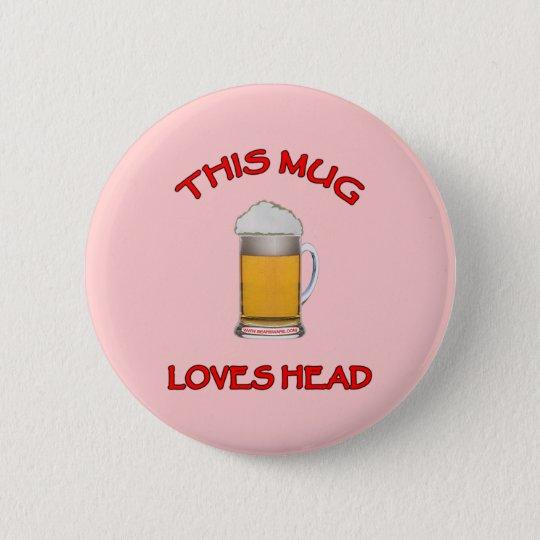 Dieser Tassen-Liebe-Kopf Runder Button 5,7 Cm