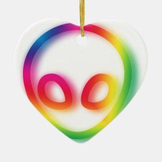 Dieses alien ist nicht - sein angesagtes grau! keramik Herz-Ornament
