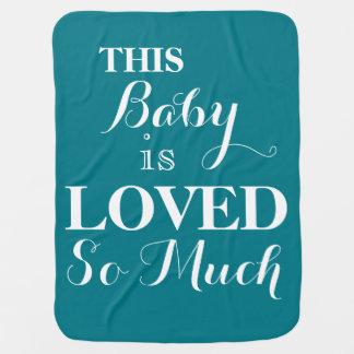 Dieses Baby ist geliebte soviel blaues Baby-Decke Kinderwagendecke