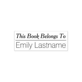 Dieses Buch gehört - individuellem Namen mit Linie Permastempel
