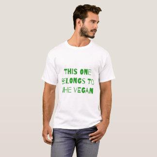 Dieses gehört dem veganen T-Shirt