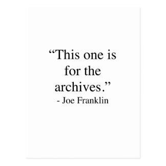 Dieses ist für die Archive Postkarte