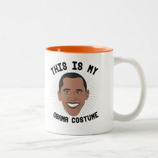 Dieses ist mein Barack Obama Kostüm -- Wahl 2016 - Zweifarbige Tasse