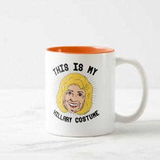 Dieses ist mein Hillary Clinton-Kostüm -- Wahl 201 Zweifarbige Tasse