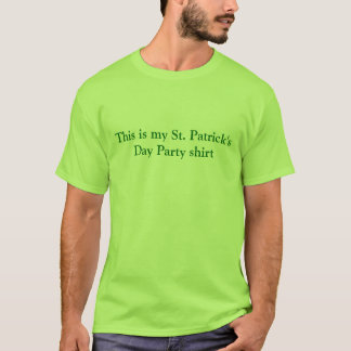 Dieses ist meines St Patrick TagesParty-Shirt T-Shirt