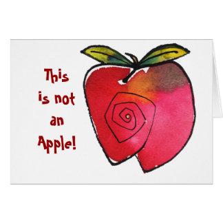 Dieses ist nicht Apple Notecard Karte