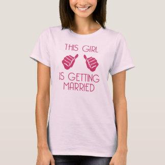 Dieses Mädchen erhält verheiratet T-Shirt