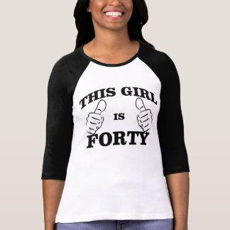 Dieses MÄDCHEN ist VIERZIG Geburtstag T-STÜCK T-Shirt
