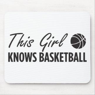 Dieses Mädchen kennt Basketball Mousepads