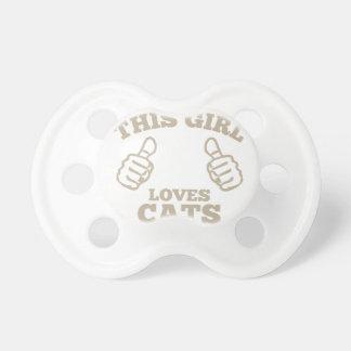 Dieses Mädchen-Liebe-Katzen Schnuller