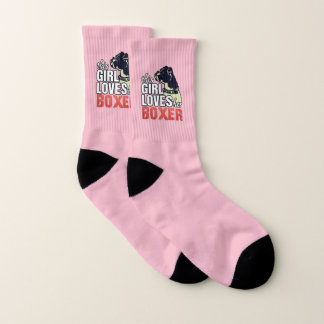 Dieses Mädchen-Lieben ihr Boxer Socken