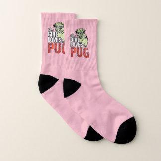 Dieses Mädchen-Lieben ihr Mops Socken