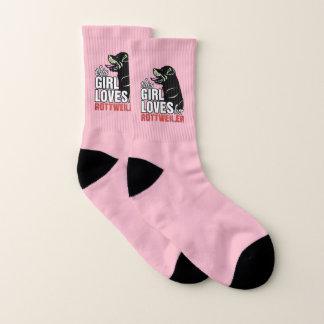 Dieses Mädchen-Lieben ihr Rottweiler Socken