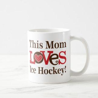 Dieses Mamma-Liebe-Eis-Hockey Kaffeetasse