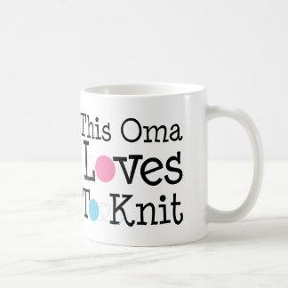 Dieses Oma Lieben zum Strick-Geschenk Kaffeetasse