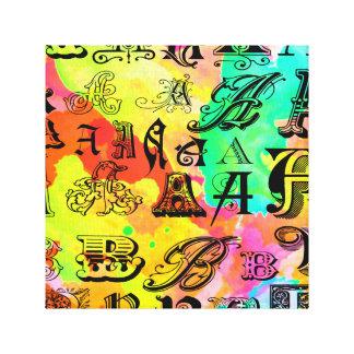 Digital-Buchstaben Leinwanddruck