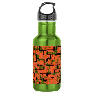 Digital-Camouflage-Grün-orange schwarzes Muster Trinkflasche