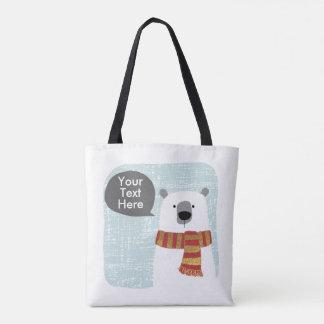 Digital, die polaren Bären, Ihr Text hier Tasche