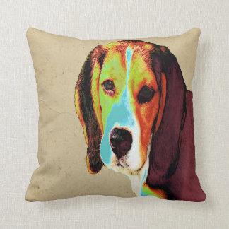 Digital farbiger Beagle Zierkissen