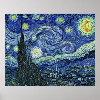 Digital geändert sternenklare Nacht Van Gogh Poster