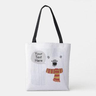Digital-Hand, die Bären, Ihr Text hier zeichnet, Tasche