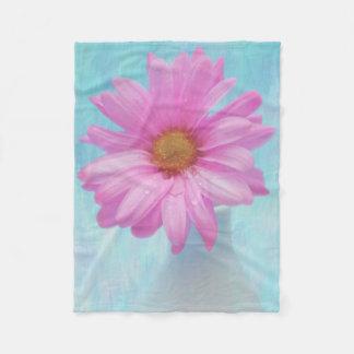 Digital-Malerei einer fotografierten rosa Blüte Fleecedecke