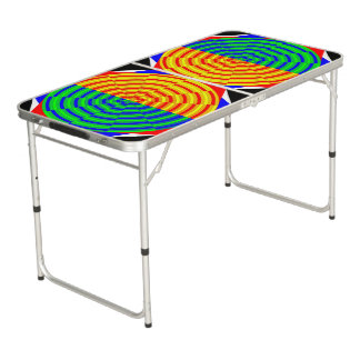 Digital-Sonnenaufgang Beer Pong Tisch