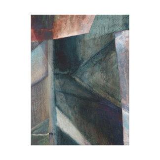 Digital-Überarbeitung der Brücken-Malerei Leinwanddruck
