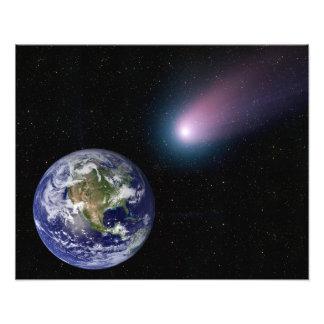 Digital-Zusammensetzung einer Kometenüberschrift Fotografische Drucke