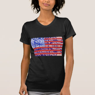 digitale Flagge (USA) u. Leiterplatte Shirt