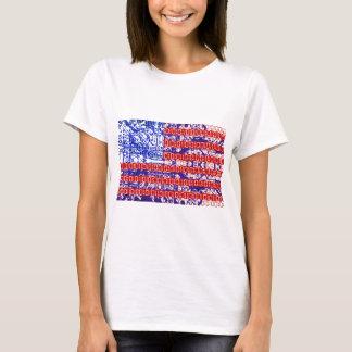 digitale Flagge (USA) u. Leiterplatte T-Shirt