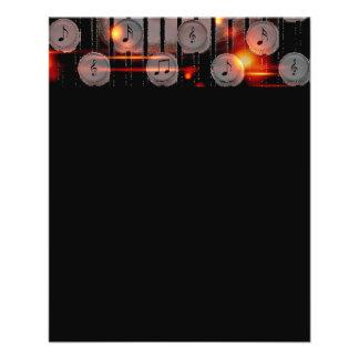 digitale Kunst der soliden Musik der Anmerkungen 11,4 X 14,2 Cm Flyer