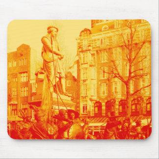 digitales Foto Rembrandt-Statueamsterdams Mousepad