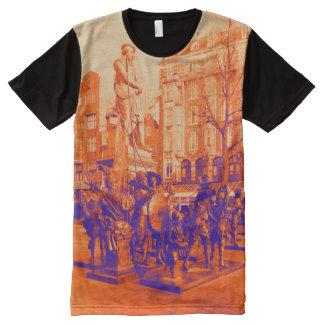 digitales Foto Rembrandt-Statueamsterdams T-Shirt Mit Komplett Bedruckbarer Vorderseite