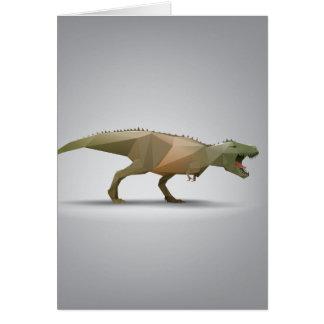 DigitalTyrannosaurus Rex polygonale abstrakte Karte